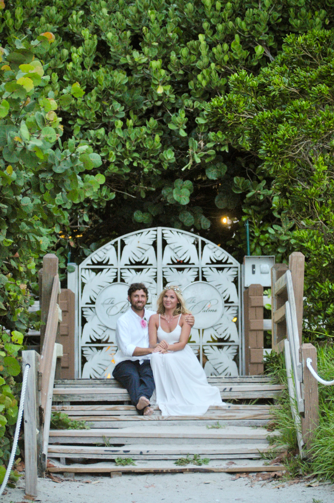 Ashley and Stephen's beautiful Miami Beach Wedding with the Charmingly Vintage wedding package!